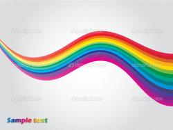 Wave shaped lines with rainbow colors — Vector by vipervxw
