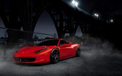 Red Ferrari 458 Italia Wallpaper for iPhone