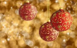 Red gold xmas balls