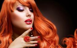 Red Hair Fashion Girl