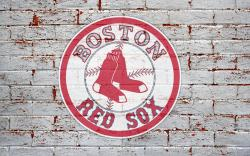 boston red sox logo on brick wall 1920x1200 1218 wide Boston Red Sox HD Wallpaper