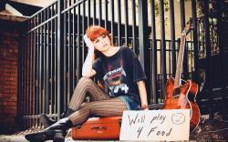 Redhead Girl Guitar