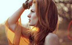 Redhead Girl Light