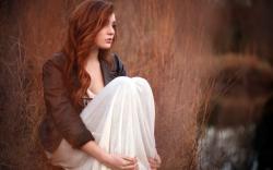 Nature Beauty Redhead Girl Model Photo