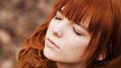Redhead Girl with Freckles
