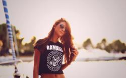 Redhead Sunglasses Girl