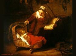Artistic Wallpaper: Rembrandt - Heiligen Familie