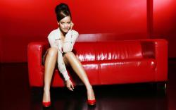 Rihanna Red Couch