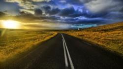Road At Sunset Wallpaper