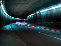 Image Tunnel, lights, road ...