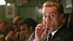 Robert DeNiro smokes cigarette like a badass