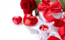Romantic Red Flowers Wallpaper Image