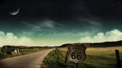 1366x768 high definition Rural road and signs backgrounds