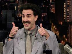 EnlargeSacha Baron Cohen as Borat on the David Letterman Show