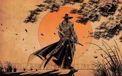 ... Samurai Sunset art for 1920x1200