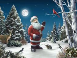 Wallpaper: The meeting Santa Claus
