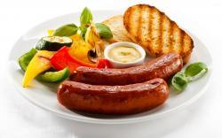Sausage breakfast wallpaper 2560x1600 jpg
