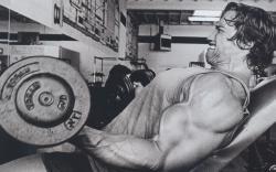 Schwarzenegger training pain