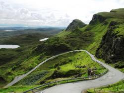 Ben Nevis Mountain and country road Scotland