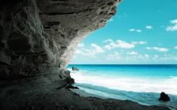 Secret cave beach