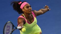 Serena Williams vs Maria Sharapova during 2015 Australian Open final