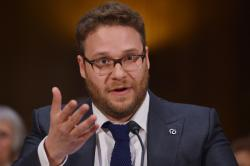 Seth Rogen testifies before the Senate Committee on Appropriations on the rising cost of Alzheimer's in America.Photo: Getty Images