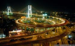 Wallpaper: Shanghai at night city. Resolution: 1024x768 | 1280x1024 | 1600x1200. Widescreen Res: 1440x900 | 1680x1050 | 1920x1200
