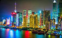 colorful shanghai city night 158765