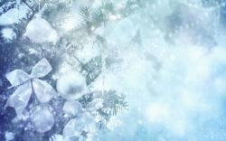 ... blue,ornaments,winter,backgrounds,three,silver,background,new year