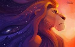 The Lion King Simba Art Cartoon HD Wallpaper