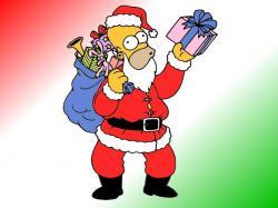 Simpson Santa Claus