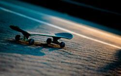Skateboard Sunset