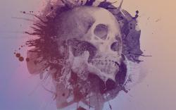 Skull art watercolor