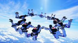 jump skydiver skydivers