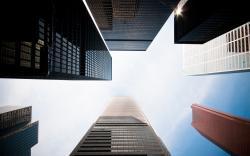 Skyscrapers look up