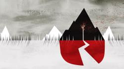 1920x1080 Abstract Mountains Tree Sleeping with Sirens HD Wallpaper
