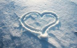 Snow Drawn Heart