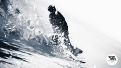Snowboard Wallpaper - Alvaro Vogel cuts through the crust