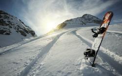Snowboard winter