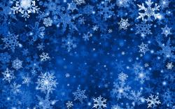 Blue Snowflake High Resolution Wallpaper Hd