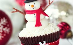 Snowman Cake Sweet Holiday Christmas New Year