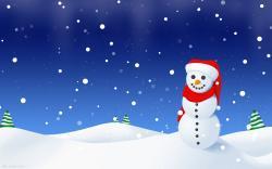 Drawn Snowman wallpaper
