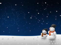 Lovely Snowman Wallpaper