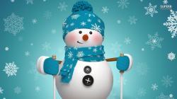 Cute snowman wallpaper 1366x768