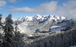 Snowy Mountains in Winter wallpaper 2560x1600 Original ...
