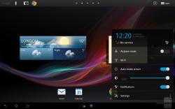 Sony's tablet Xperia UI is painted all over Android 4.1.2 on the Tablet Z