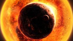 Space fantasy sun planet