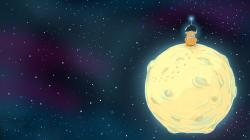 Space Moon a Bear Astronaut Art
