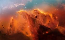 Orange Nebula Space Clouds (click to view)