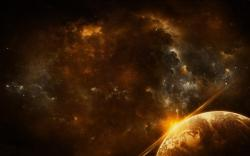 Space Nebula Planet